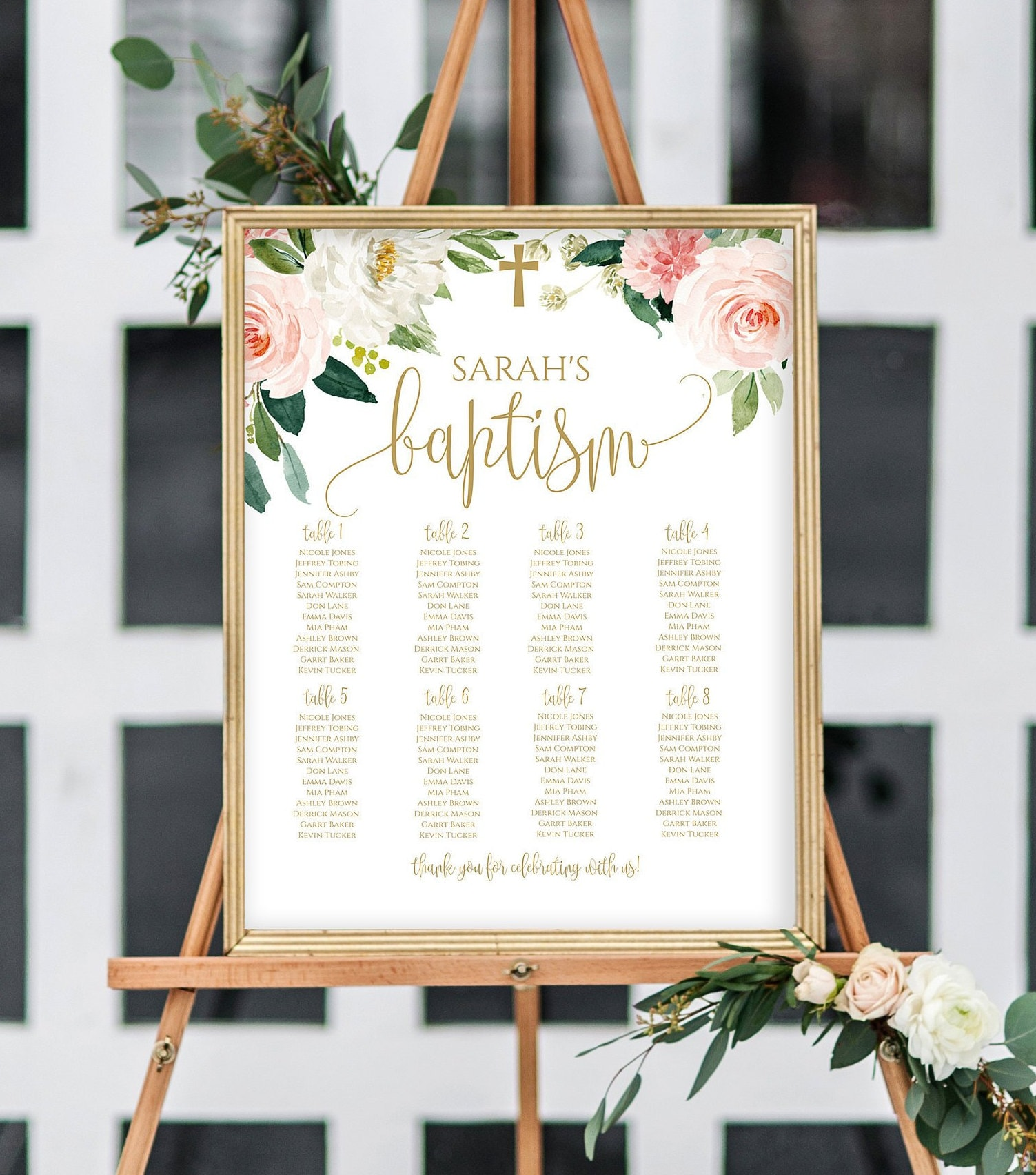 Baptism Seating Chart Template Diy Seating Chart Editable Seating Chart Printable Seating Plan For Baptism Communion Seating Chart 1143