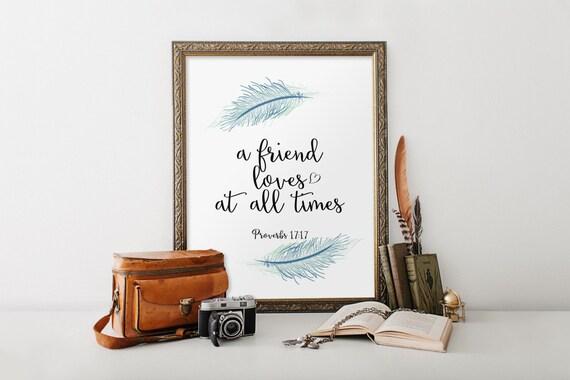 Bible Verse Art Scripture Printable Verses Best Friendship Etsy