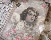 Shabby chic angels diary, journal, notebook, vintage angels journal, vintage style diary, old style diary, alten stil engel tagebuch, diario