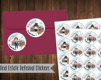 Real Estate Referral Stickers