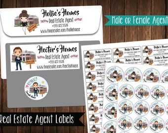Real Estate Agent Address Labels, Mailing Labels