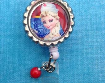Badge Reel Nurse Elsa design Nurses week gift idea