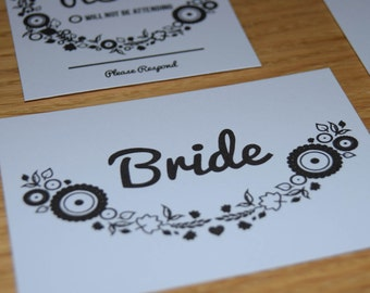 Floral Placecard A7