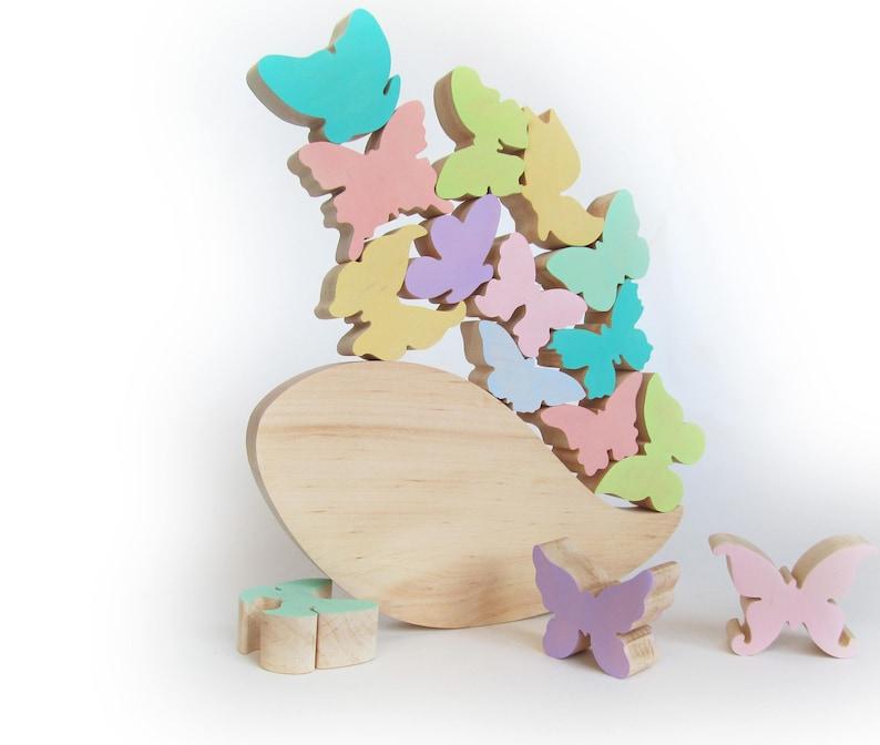 Cadeau Voor Baby Balancing Game Houten Vlinder Speelgoed Etsy