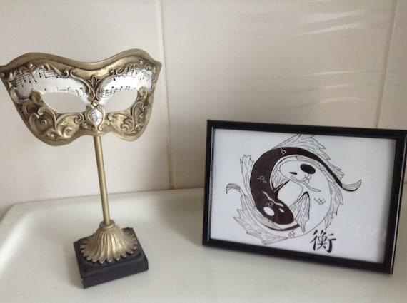 Koi Fish Yin Yang Art Print Avatar The Last Airbender Etsy