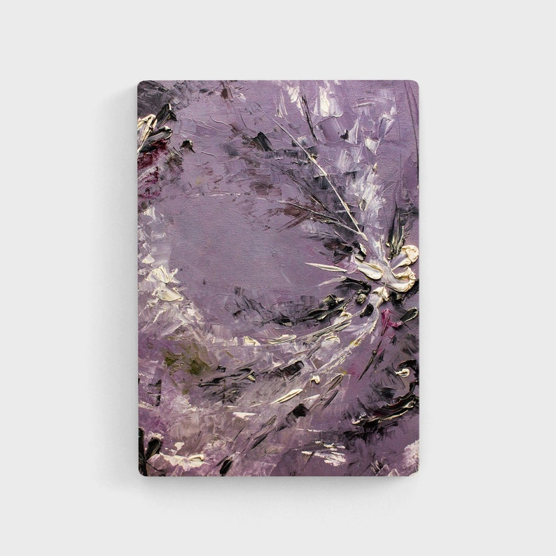 Abstract art Depression painting Purple wall art Abstract ...