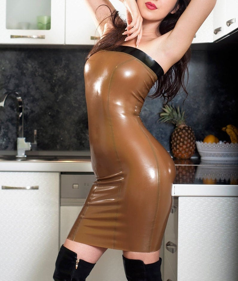 Latex Tube Dress. Sexy Shiny Dress. Made to measure custom image 0