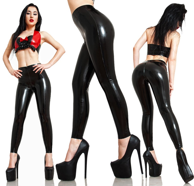 Latex Leggings Made to Measure With or Without Crotch Zipper image 0