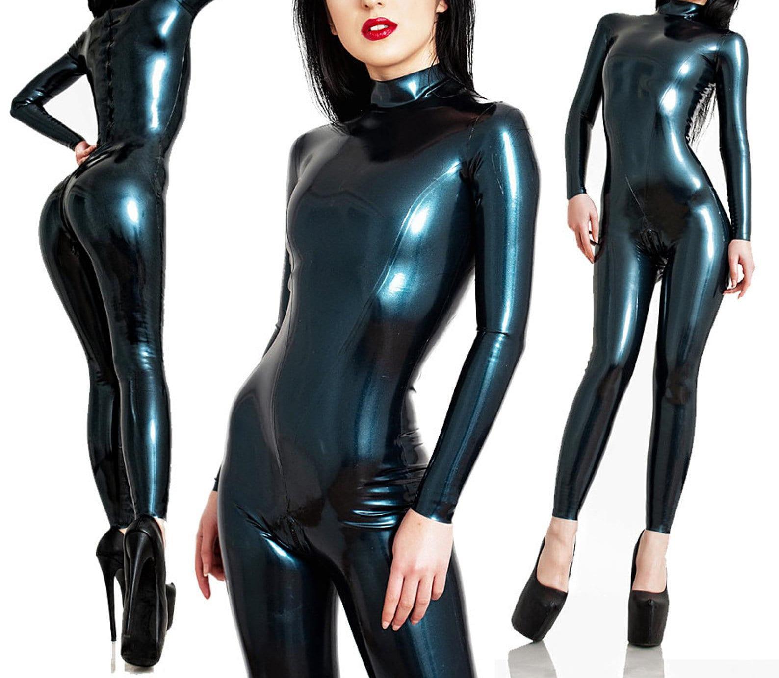 Latex catsuit girl