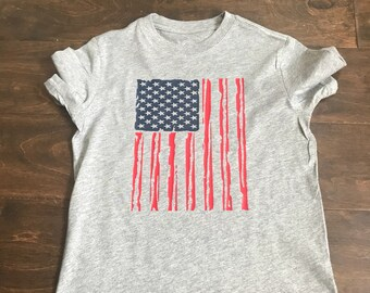 Distressed American Flag youth Shirt
