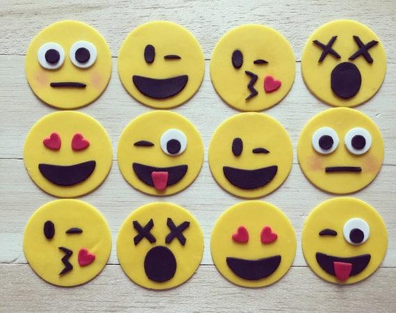 Emoji Cupcake Toppers Cupcakes Fondant