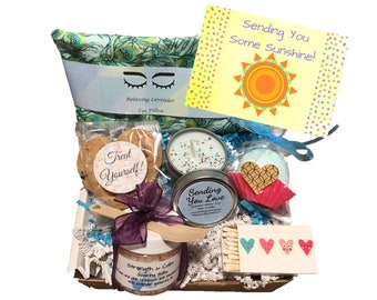Self Care Gift Celebration Gift Box of Sunshine Thinking of You Gift Cheers Congratulations Gift Take Care Of Yourself Gift Friend Gift  sc 1 st  Etsy & Self care gift box | Etsy