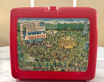 1990 Where\u2019s Waldo lunchbox /& thermos Vintage Collectable 90s Vintage Gift vintage Lunchbox Vintage Gift 90s tv 90s movie gift