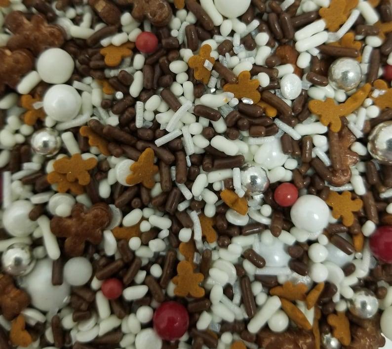 Gingerbread man sprinkle mix