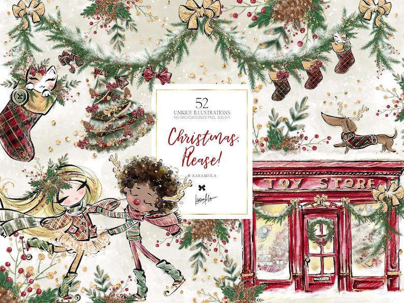Karamfila's Christmas Clipart Toy Store Christmas Planner image 0