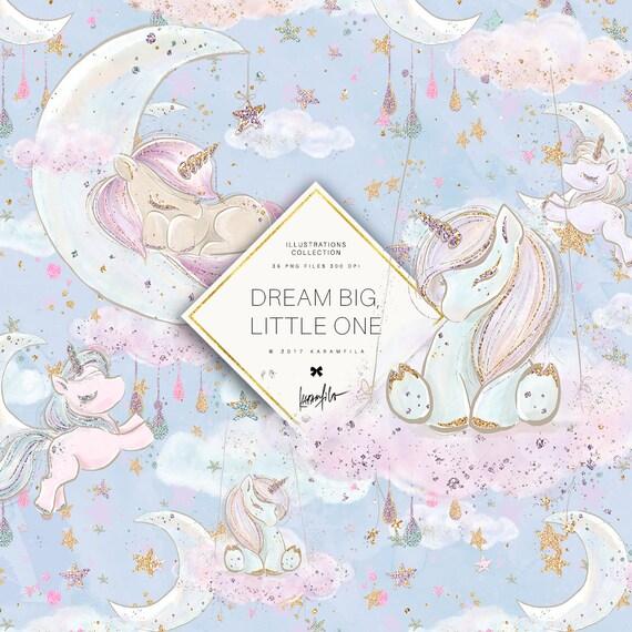 Unicorn Clipart Cute Baby Unicorns Clip Art Sleeping