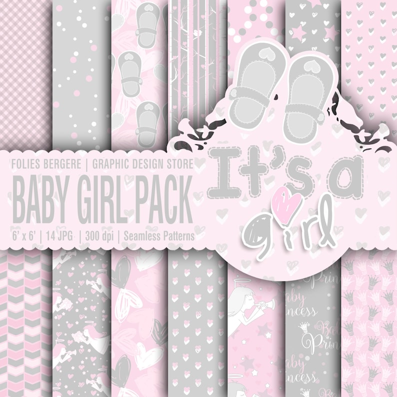 photograph about Printable Backgrounds identified as Its a Female Electronic Paper Little one Woman Printable Backgrounds Purple Gray Adorable Angels Dots Hearts Chevron Routine Woman Princess Paper Nursery Woman