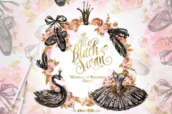 Swan Lake Clipart Ballerina Clipart Blac...