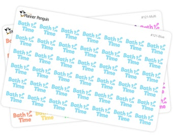 Bath Time stickers For Erin Condren Life Planner, EC Horizontal or any other Planner // Item #121
