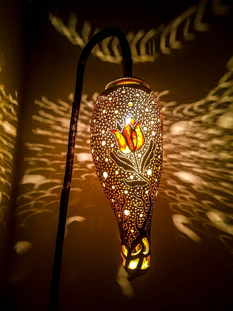Lampada Da Terra Valenti.Valentinsdag Ha Dato Zucca Lampada Turca Stehlampe Lampada Da Etsy