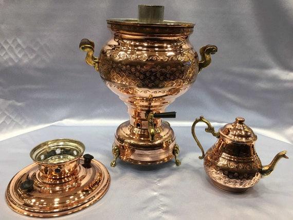 Authentic Turc fait main artisanale cuivre électrique Samovar semaver Théière