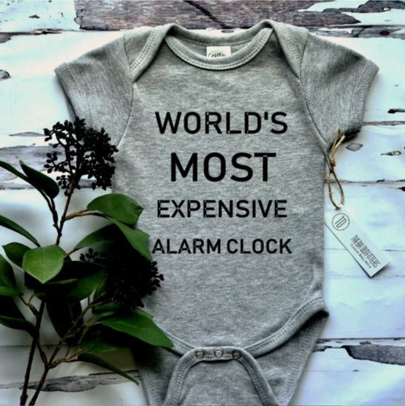World S Most Expensive Alarm Clock Onesie Funny Cute Etsy