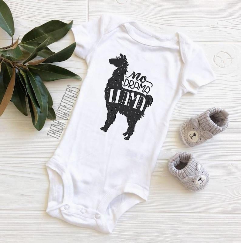 Baby Boy Girl Clothes Llama Baby Bodysuit Baby Clothes Funny Baby ONESIE\u00ae Baby Shower Gift Baby Bodysuit No Drama Llama