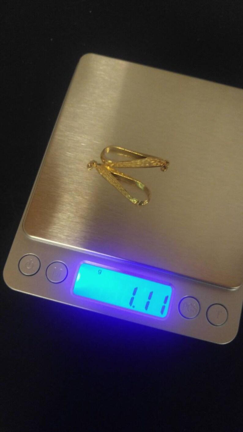 18K Yellow Gold 1 14 Dangles for Earrings 1.11 g