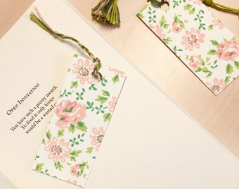 Upcycled Floral Bookmark