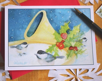 Christmas Cards Lion And Lamb Watercolor Holiday Greeting Card Etsy