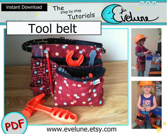 tool belt for kids sewing pattern / carpenter pouch / | etsy