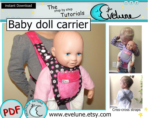 0ab2f1ba573f Baby doll carrier pattern   PDF   English pattern   baby doll   Etsy