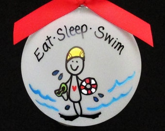 Swimmer ornament,Swim personalized christmas ornament,swimmer,swim,swimming for swimmer,swimmer gift,swim ornament,swimmer ornament,gift