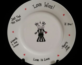 gay wedding gift,personalization, Mr and Mr, wedding plate,gift plate,signing plate,guest book, gay wedding gift, gay men,gay, pride gift