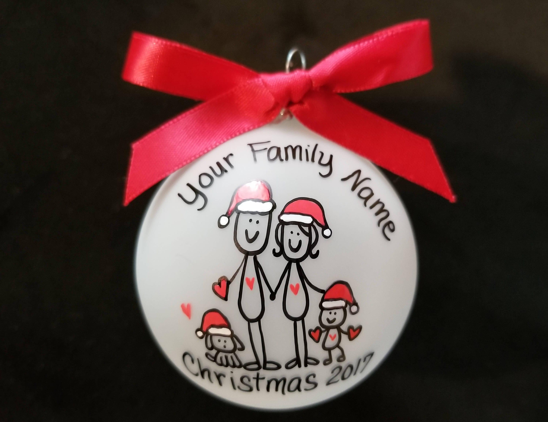 Family Christmas ornament personalized christmas t custom