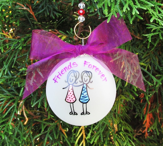 best girl friends christmas ornament personalized custom etsy