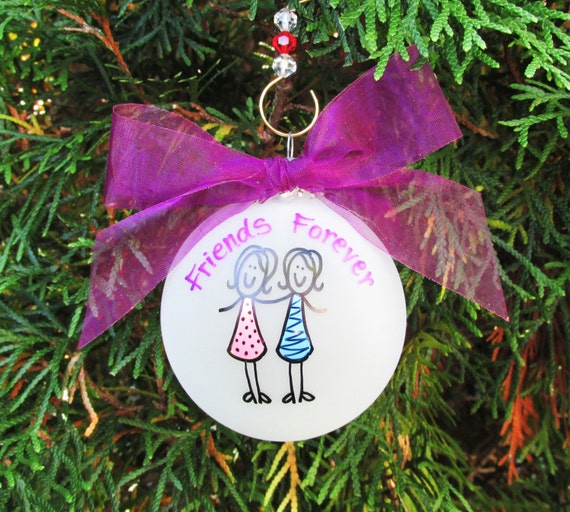 inspirational holiday present best girl friend painted ornament Gift for her personalized Christmas ornament