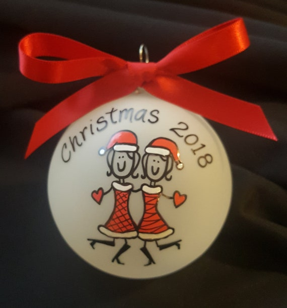 best friend christmas ornaments personalized friends etsy