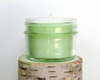 Coconut Lime Verbena Candle || Hand Poured || Organic Soy Candle // 4 oz. Jar