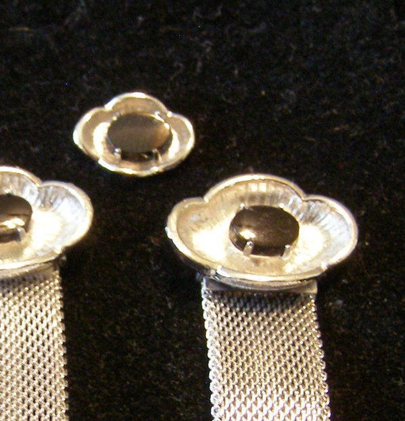 mens Fashion Wedding Jewelry vintage SEA SHELL shape Tie Tack and Meshwrap Cufflinks Nautical Cufflinks Black Onyx Stone on silver Finish