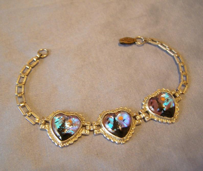 Wife gift BUTTERFLY WING Bracelet vintage Blue Morpho Butterfly ART Bride Rhodium silver Bracelet Sweetheart Tropical Travel Souvenir