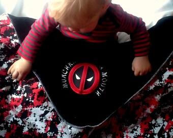 Deadpool Blanket Etsy