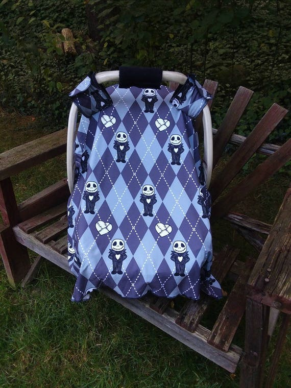 Awesome Jack Skellington Baby Car Seat Canopy Nightmare Before Christmas Infant Car Seat Cover Baby Carrier Accessory Travel Cover Baby Shower T Machost Co Dining Chair Design Ideas Machostcouk