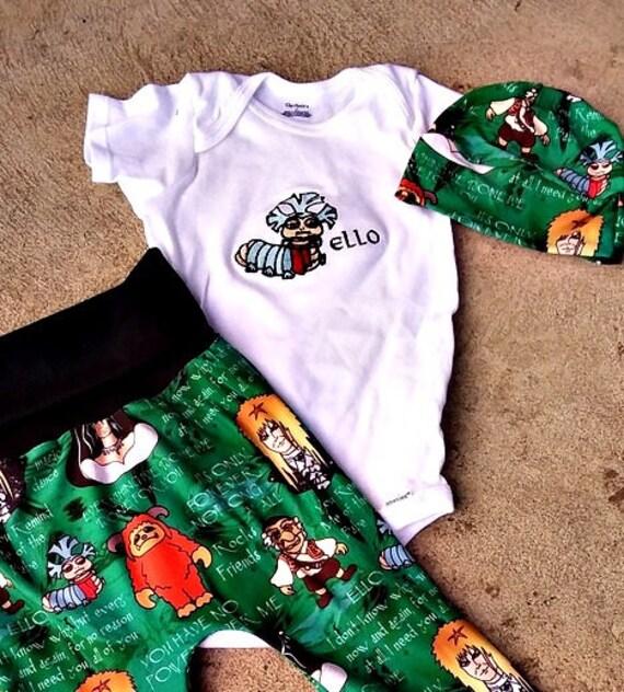 50497a97d Labirynt Baby maxaloones strój David Bowie inspirowane harem | Etsy