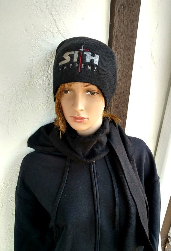 b6ce9e24bdaf0 Sith Happens Winter Hat Embroidered Beanie Men or Womens