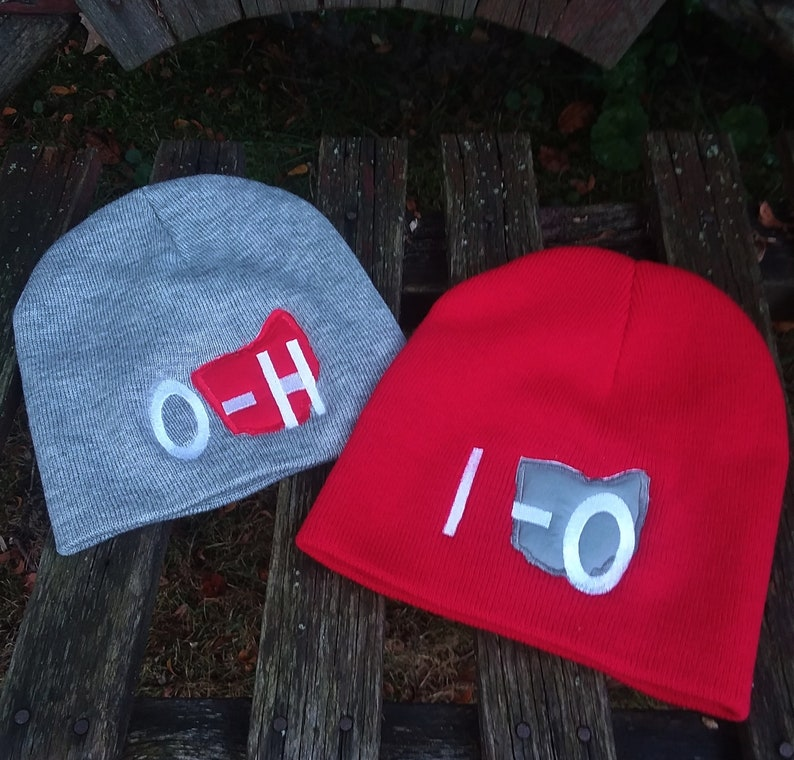 a0aa4081bda7d State of Ohio Winter Hat Embroidered Beanie Men or Womens