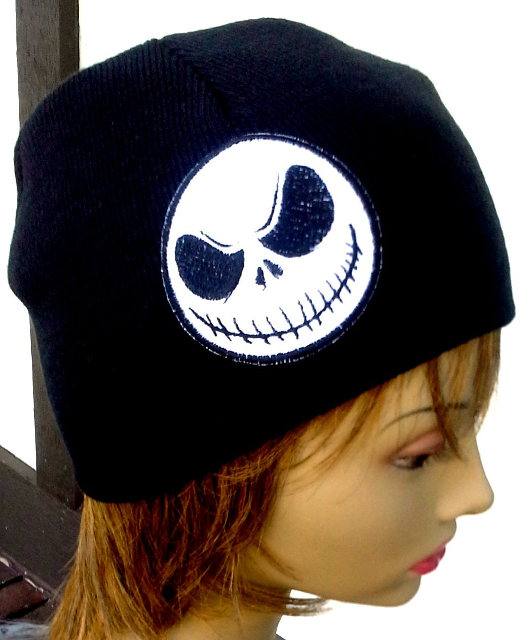 Jack Skellington Winter Hat Embroidered Beanie Men or  8b68acfa6b15