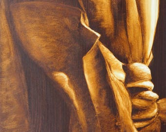 Knotted Fabric Oil Painting