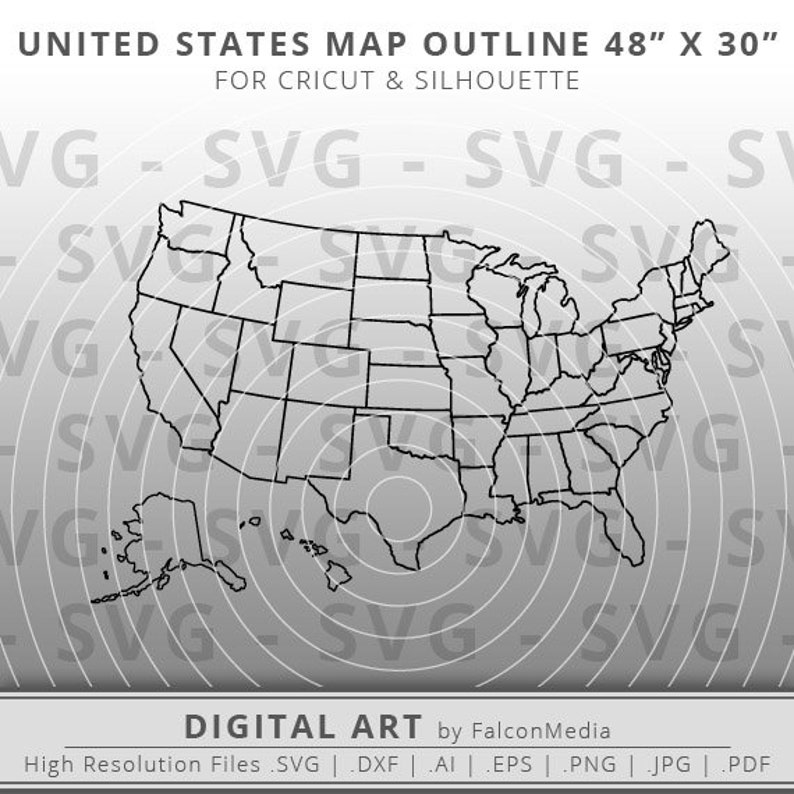United States of America Map 48\