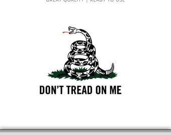 Gadsden Flag Snake Graphic - Don't Tread On Me Flag - Snake Flag SVG - Don't Tread On Me SVG - Cut File - Instant Download - Ready to Use!